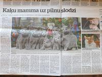 """Статья в газете """"DIENA"""" 15.01.2021."""